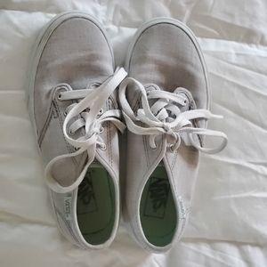 Vans girls size 1.5 grey/mint green lace u…